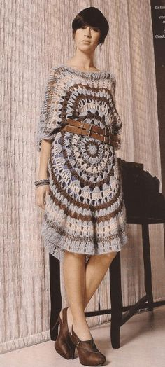 Crochet tunic, free pattern