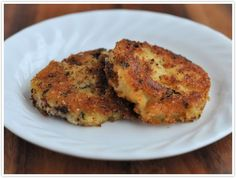 Parmesan Crusted Fried Mashed Potato Cakes Recipe