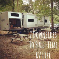 7 Downsides To Full-Time RV Life By Rachel Rowell on September 12, 2013 in Full-Time RV Life, Travel Light