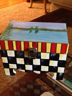 Hand Painted Decorative Box by paintingbymichele on Etsy, $45.00
