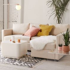 Shop Pippa Sectional Sofa at Urban Outfitters today. Discover more selections just like this onlin. Living Room Furniture, Living Room Decor, Den Furniture, Furniture Stores, Cheap Furniture, Bathroom Furniture, Antique Furniture, Furniture Ideas, Apartment Furniture Layout