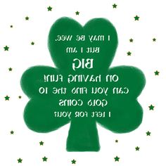Backwards Leprechaun Note.  Place in front of a mirror to read!