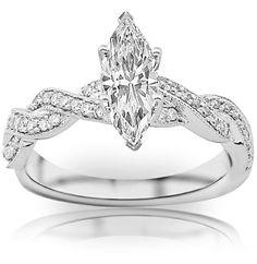 0.80 Carat Marquise Cut / Shape Vintage / Antique Twisting Split Shank Diamond Engagement Ring With Milgrain (F Color , SI1 Clarity) Chandni Jewels,http://www.amazon.com/dp/B00BRKDXKG/ref=cm_sw_r_pi_dp_Yhabtb1QVQV55WB4