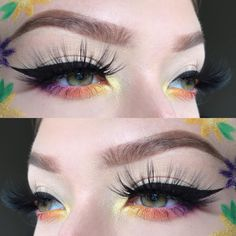 """J e n n a on Instagram: """"Drawing flowers on your face is hard 🙃🌷 @wetnwildbeauty face paint palettes & liquid liner @mbacosmetics Dreamsicle & Amethyst Moon glitter…"""" Ariel Hair, Paint Palettes, Drawing Flowers, Liquid Liner, Makeup Ideas, Amethyst, Make Up, Glitter, Moon"""
