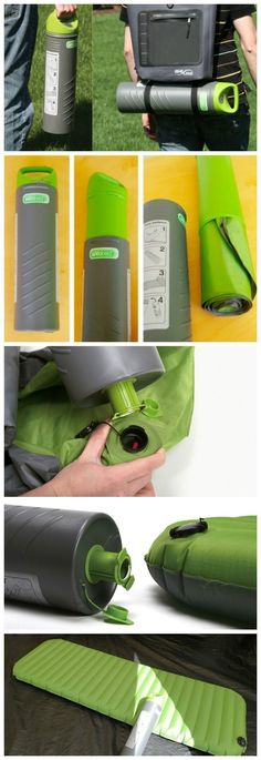 """Some may consider bringing along an air bed on a camping trip more of a """"glamping"""" trip but if you can squeeze that air bed into a 6.0 inch x 19.5 inch cylinder that also doubles up as the air pump, we say, """"Why not?"""" #campingtrip"""