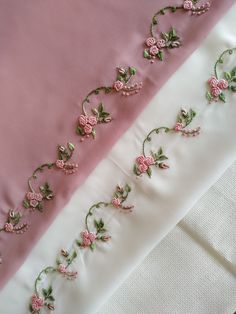 Hand Embroidery Patterns Flowers, Hand Embroidery Dress, Border Embroidery Designs, Hand Embroidery Projects, Hand Embroidery Videos, Hand Embroidery Tutorial, Cute Embroidery, Creative Embroidery, Hand Embroidery Stitches