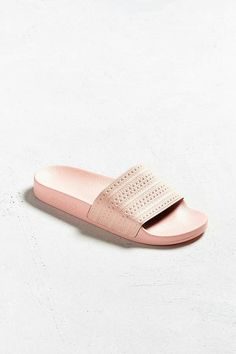 Shop adidas Adilette Pastel Slide Sandal at Urban Outfitters today. We carry all the latest styles, colors and brands for you to choose from right here. Adidas Adilette, Rubber Sandals, How To Make Shoes, Dope Fashion, Athletic Wear, Shoe Collection, Slide Sandals, Urban Outfitters, Slippers