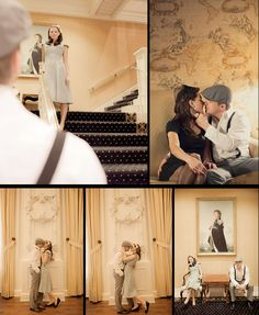 Reminds me of The Titanic movie where Rose is walking down the stairs Vintage Engagement Shoot – The King Edward Hotel – Dave and Charlotte Photography | Toronto Wedding Society