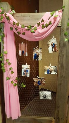 With pics attatched with tiny clothespins