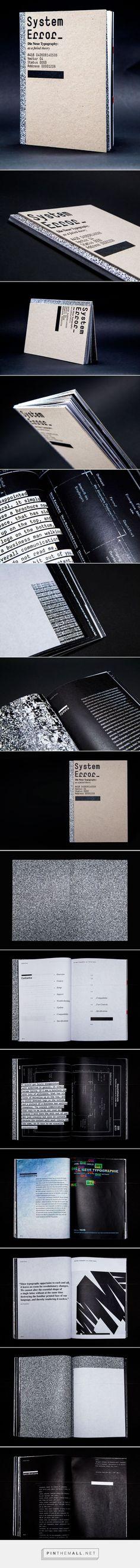 System Error—Editorial Design by Eric Lynch: