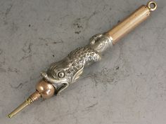 Victorian Antique Silver & Gold Novelty Dolphin Propelling Pencil