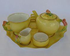 Royal Winton Grimwades Yellow Rosebud Breakfast Set