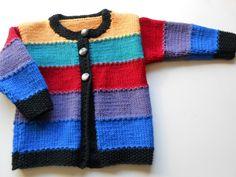 Bunt, Sweaters, Etsy, Fashion, Knit Jacket, Handmade, Jackets, Breien, Kids