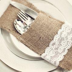 burlap and lace wedding ideas | Burlap and lace | Party/Wedding Decor Ideas
