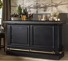 Organize your home bar with bar furniture from Pottery Barn. Find home bar furniture in a wide range of styles and finishes that hold and display entertaining essentials. Home Bar Furniture, Dining Room Furniture, Furniture Ideas, Pottery Barn Bar, Coin Bar, Home Bar Designs, Trendy Home, Furniture Upholstery, Entertainment Room