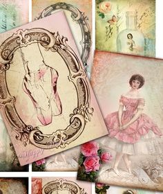 Ballet Designed Beautiful Vintage Ballet Images  For ATC by Narry, $3.50