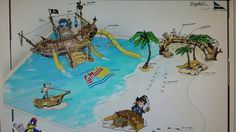 Pirateship island beach blanes spain Island Beach, Spain, Art, Kunst, Art Education, Artworks