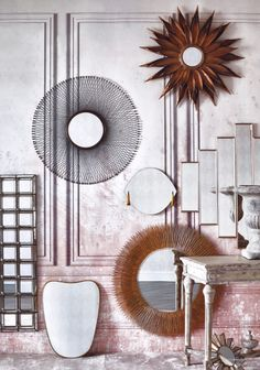 Wallpaper Patinated Panels featured in Sköna Hem, March 2018.