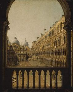Interior Court of the Doge's Palace, Canaletto (Giovanni Antonio Canal). Italian (1697 - 1768)