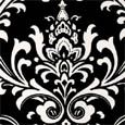 Fab Outdoor - Canopy Black Damask