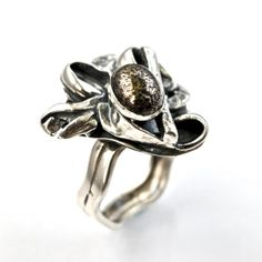 Pyrite Ring Recycled Silver Jewelry Unique Artisan by AlexAirey, $259.00 www.etsy.com/shop/alexairey