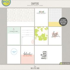 New Release | Chapters | One Little Bird Designs