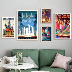 """""""America Las Vegas City Travel Poster Canvas Paintings Vintage Wall Kraft Posters Coated Wall Stickers Home Decor Pictures Gift"""" Vintage Wall Art, Vintage Walls, Vintage Room, Disneyland, Dining Room Art, Las Vegas City, Picture Gifts, Wall Stickers Home Decor, Home Decor Pictures"""
