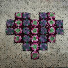 My tablecloth.....granny square....like it.