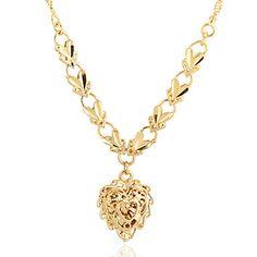 Jian Feng 24K äkta guld plätering XL0006 Halsband – SEK Kr. 17 30fc94e6b7160