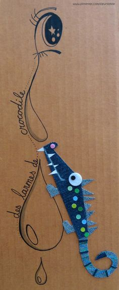 Des larmes de crocodile !! #jeans #recycle www.toutpetitrien.ch ou www.pinterest.com/fleurysylvie