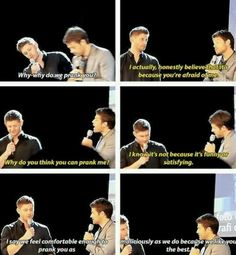 That's their way of showing you that you are part of the SPN family.