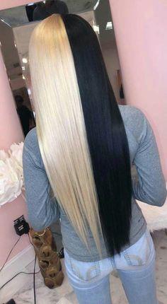 Grey Hair Dye, Grey Wig, Wig Hairstyles, Straight Hairstyles, Colored Weave Hairstyles, Retro Hairstyles, Wig Styling, Split Dyed Hair, Half Dyed Hair