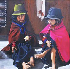 AL-MERCADO-DE-ECUADOR--11O-X11O-CMS Cathy Chalvignac Artist Ajijic born Paris - lived in Montreal as a child