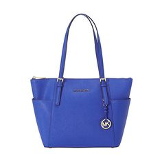 MICHAEL Michael Kors Jet Set Saffiano E/W Top Zip Tote Tote ($248) ❤ liked on Polyvore