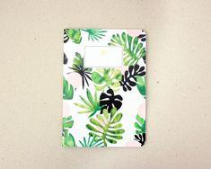 Tropical Notebook / carnet motif tropical / A5 / fabriqué à la main / handmade