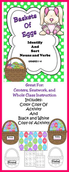 Easter - A fun activity to use in centers, stations, or as a whole class lesson.  #Easter Ideas #Easter Centers