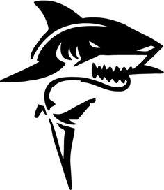 Amazing Drawings, Beautiful Drawings, Colorful Drawings, 3d Drawings, Animal Drawings, Stencil Art, Stencil Designs, Tribal Animal Tattoos, Tribal Shark
