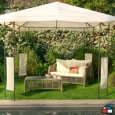 Pérgola con paneles simples #terraza #jardin