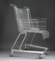 Frank Schreiner's Shopping Cart Chair #Art, #Chair, #Furniture