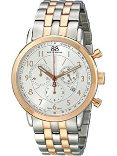 88 Rue du Rhone Men's 87WA120057 Analog Display Swiss Quartz Two Tone Watch ❤ 88 Rue du Rhone MFG Swiss Made Watches, Rhone, Quartz Watch, Gold Watch, Chronograph, Bracelet Watch, Fragrance, Steel, Bracelets