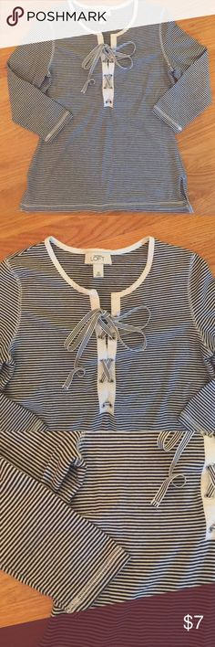 Selling this Ann Taylor LOFT Top Tie Front Shirt XS on Poshmark! My username is: volley4kix. #shopmycloset #poshmark #fashion #shopping #style #forsale #LOFT #Tops