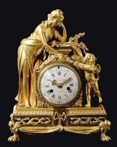 Reloj LuisXVI de Bronce Dorado: