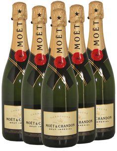 Moet and Chandon Brut Champagne Six Bottle Case - 6 x 750ml - France - Origin
