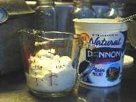 Making Yogurt--scald at 185-195. Cool to 110-120 before adding the starter/cup of yogurt.