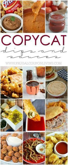 Easy to make and tastes that like the real thing! These Copycat Dips and Sauces might have you never buying the real thing again. I love that I can enjoy them at home. Take a look at all these copycat restaurant sauces on Frugal Coupon Living.