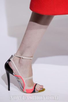 Jil Sander A/W 12-13 MFW | Bare Milky gams just need a color block shoe look.