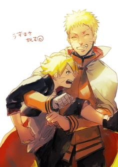 Uzumaki Boruto and Uzumaki Naruto :D :D :D <3 ^^ :D