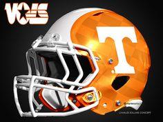 Tennessee Vols Concepts Helmets College Football Uniforms, Tennessee Volunteers Football, Tennessee Football, College Sport, Cool Football Helmets, Football Helmet Design, Collage Football, 32 Nfl Teams, Professional Football Teams