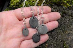 Collar de piedra collar esterlina plata playa por StudioNinetyFour