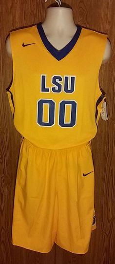 LSU Tigers Mens Basketball NIKE Uniform Large NCAA #00 #Nike #LSUTigers